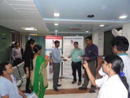 BLS training Certificates at Srinivas Hospital Patna